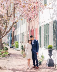 Bride and Groom Mini-Wedding in Old Town Alexandria - With This Ring I Thee Wedd with Leora Willis