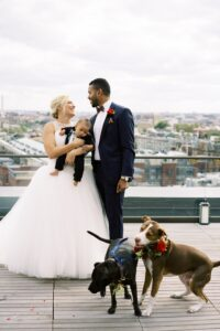 Couple with their dogs-Leora Willis-Wedding Officiant-With This Ring I Thee Wedd Ceremonies