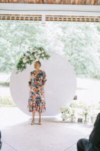 With This Ring I Thee Wedd's Leora Willis -Virginia wedding venue at altar awaiting couple